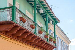 Colonial style architecture in Santiago de Cuba, Cuba